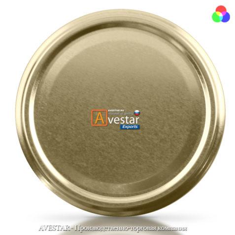 Крышка Твист-Офф - 82 (золотая) винтовая