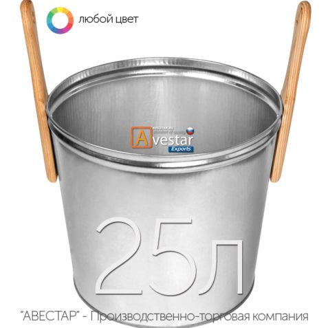Ведро обливное для бани - 25 литров (бадья для сауны)
