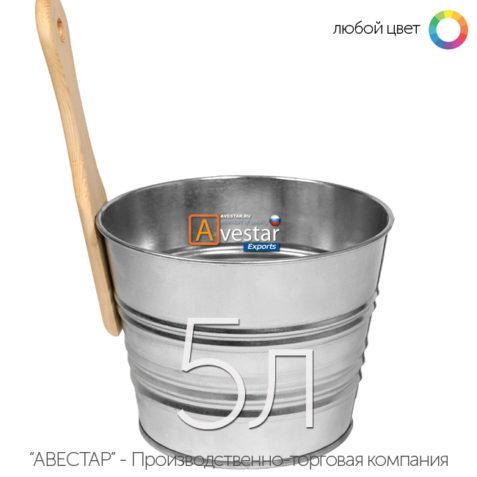 Ведро обливное, шайка для бани — 5 литров (бадья для сауны)