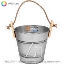 Ведро декоративное оцинкованное — 7 литров