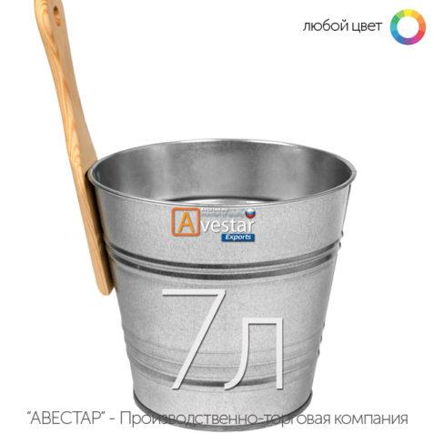 Ведро обливное, шайка для бани — 7 литров (бадья для сауны)