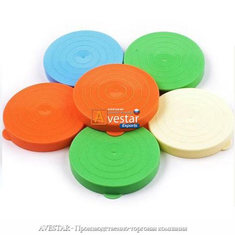 Полиэтиленовые крышки для холодного консервирования Ø 82 мм. (цветные)